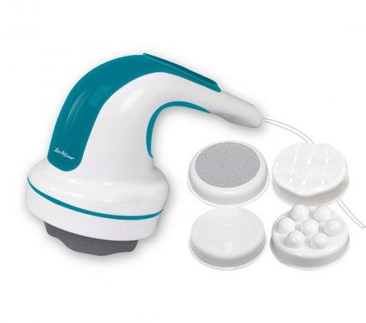 Massageador Techline MS9000 / Para Corpo Todo / Lixa para Pés / Disco Ondulado e Liso / Azul / 110V