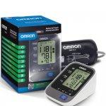 Monitor de Pressão Arterial Digital de Braço Omron HEM-7320 Automático Cinza e Branco