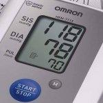 Monitor de Pressão Arterial Digital de Braço Omron HEM 7122 Automático Branco