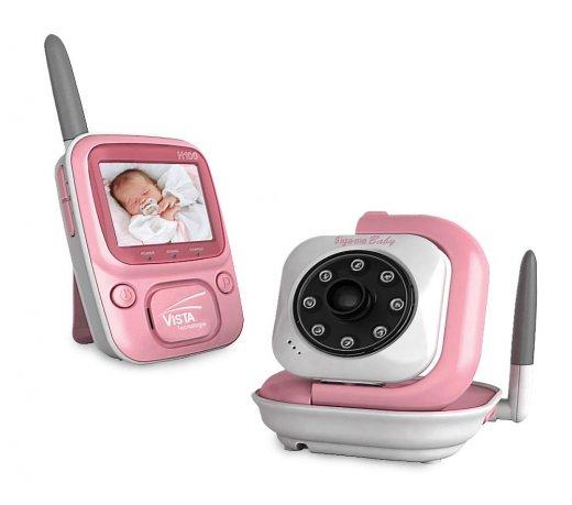 Babá Eletrônica Siga-me Baby 1 Visor de 2,4 Digital Rosa Bivolt Visão Noturna 2400 MHz