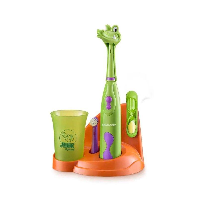 Escova Dental Elétrica Multilaser Infantil Funny Brush Jacaré HC100