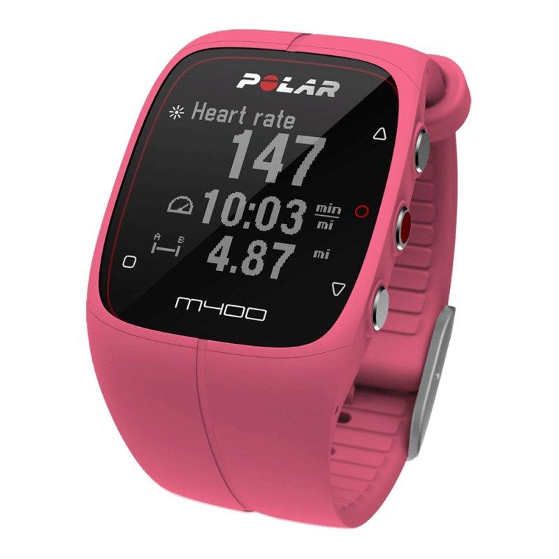 462c7343386 Relógio Polar M400 com Monitor Cardíaco e de Atividades GPS Rosa