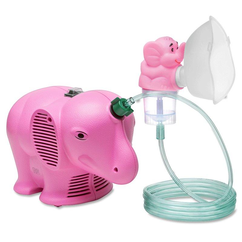 Inalador Nebulizador NS Inalafante Bivolt Rosa com Protetor Térmico