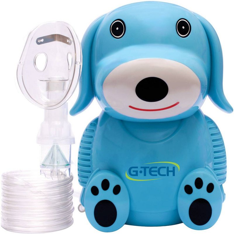 Inalador / Nebulizador NEBDOG G-Tech Azul Bivolt