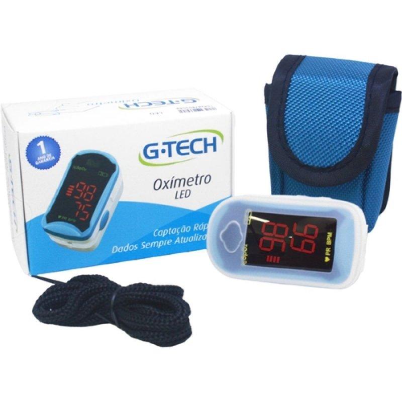 Oxímetro de Pulso Portátil G-Tech Modelo Led Azul