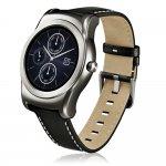 SmartWatch LG Watch Urbane W150 Pulseira de Couro Sensor de Batimentos Resistente À Água Prata