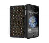 Capa Protetora Cygnett Para iPhone 4 / Em Silicone Perfurado / Preta com Inserts Coloridos