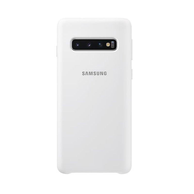 Capa Protetora Silicone Samsung S10 Branca