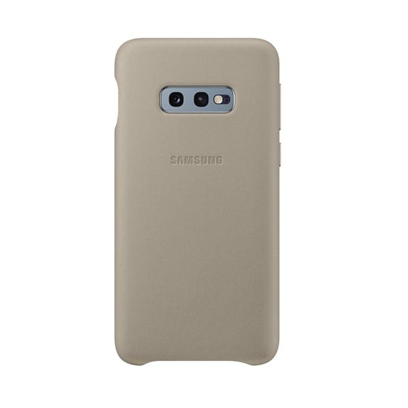 Capa Protetora de Couro Samsung S10e Cinza