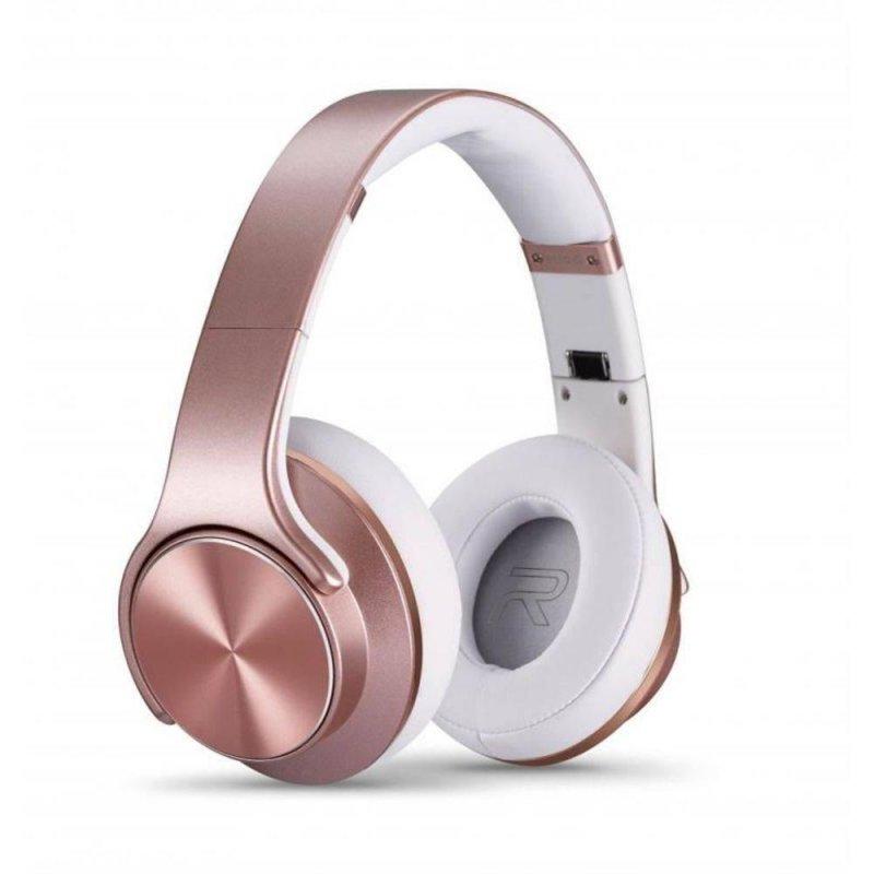 Fone de Ouvido e Caixa de Som Bluetooth com Entrada Micro SD P2 NFC FM Xtrax Duo Rose Gold