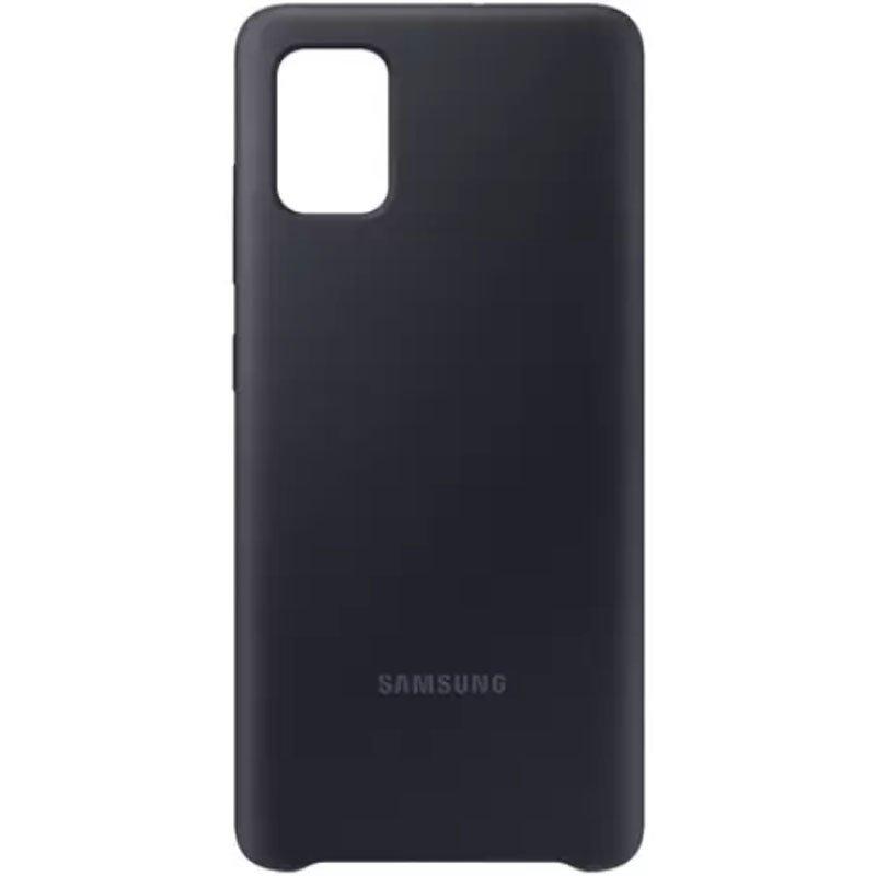 Capa Protetora Silicone Galaxy A51 - Preto