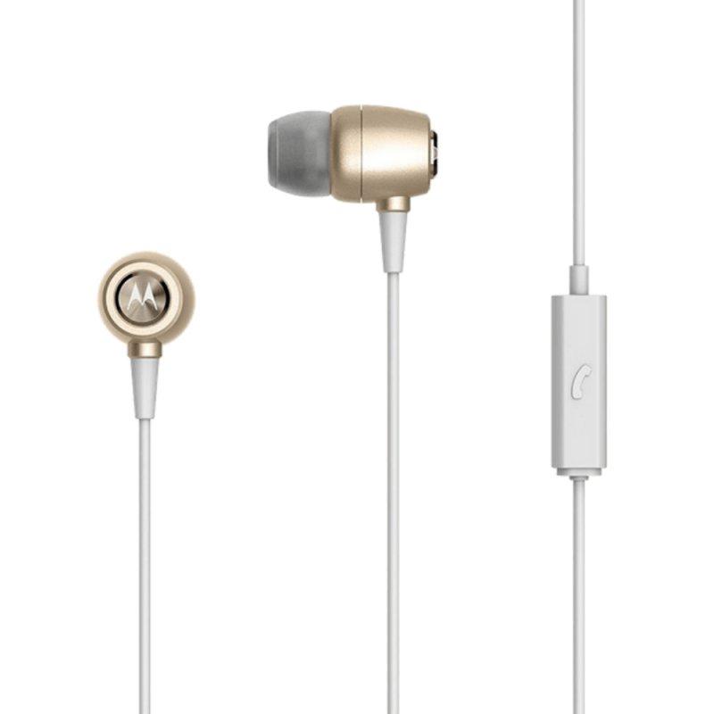 Fone de Ouvido Motorola Earbuds Metal Dourado