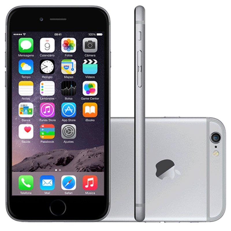 af3eb1445 iPhone 6 Apple 16GB Cinza Espacial Tela 4