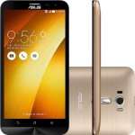 Smartphone Asus Zenfone 2 Laser 6 Dourado Full HD Quad Core 32GB 4G Dual Chip e Camera 13MP