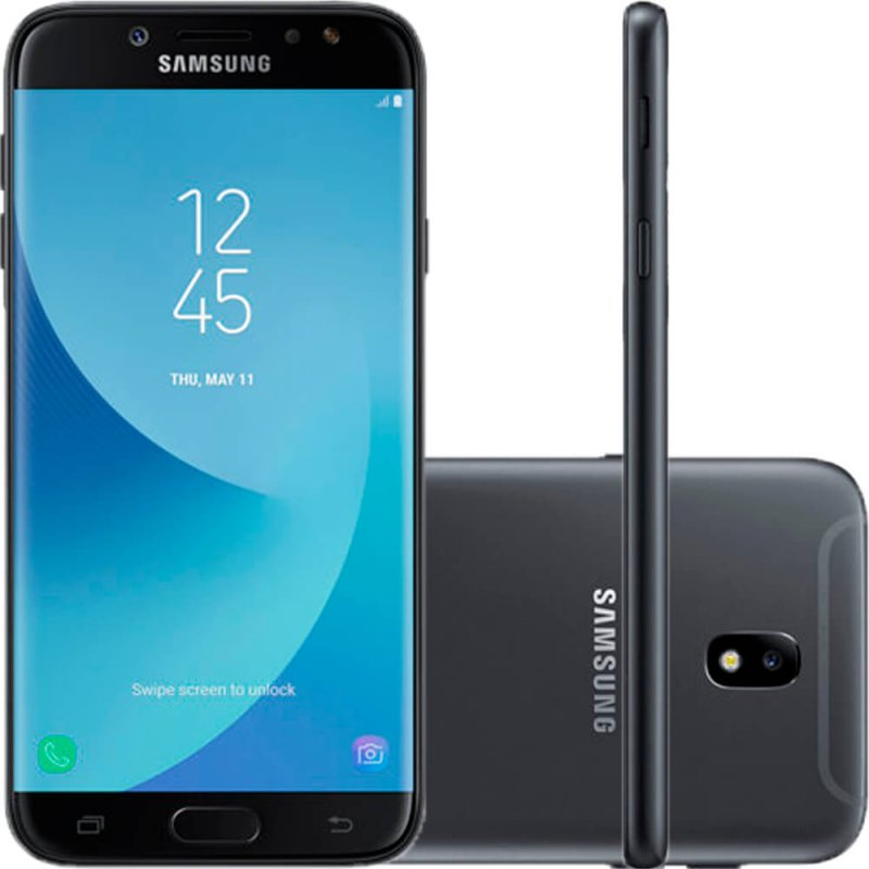 e7d2faf867 Smartphone Samsung Galaxy J7 Pro Preto Dual Chip 64GB Tela de 5.5