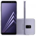 Smartphone Samsung Galaxy A8 Plus Ametista Dual Chip 64GB Tela de 6 Câmera de 16MP