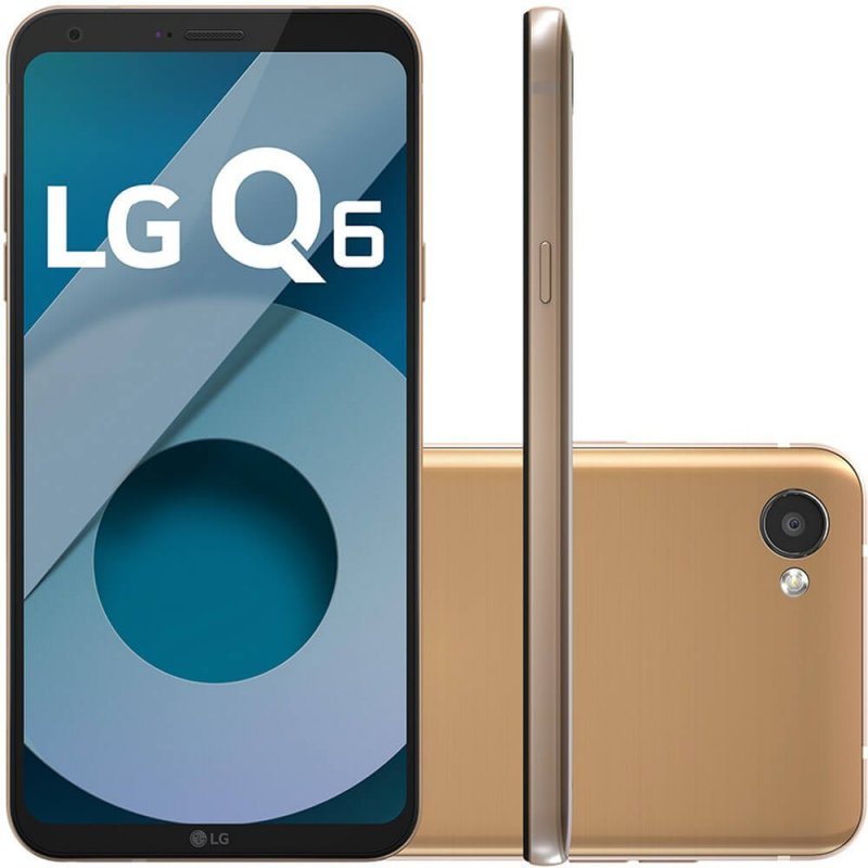 Smartphone LG Q6 LGM700TV Rose Gold 32GB 5,5 Dual Chip 13MP Octa Core 3GB RAM