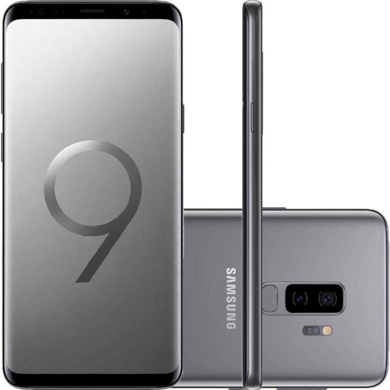 Smartphone Samsung Galaxy S9 Plus Cinza Tela Infinita de 6,2 Câmera Dupla 12MP 128GB Octa-Core 6GB