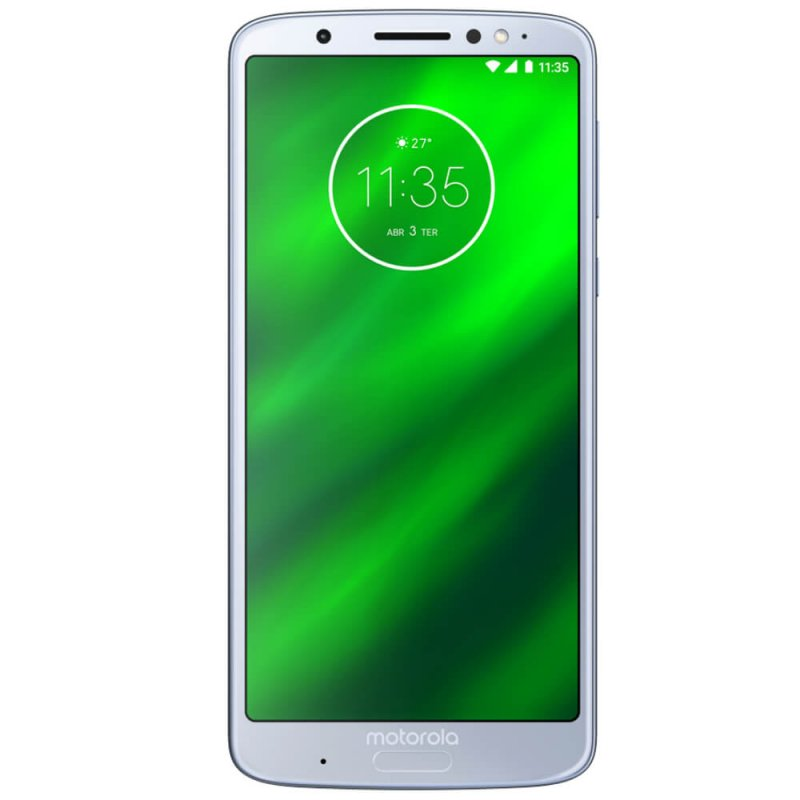 Smartphone Motorola Moto G6 Plus Topázio DualChip 64GB Tela 5.9 Câmera Traseira Dupla 12 MP e 5 MP