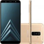 Smartphone Samsung Galaxy A6 Plus Dourado Tela Infinita de 6 Câmera dupla 16MP e 5MP 64GB