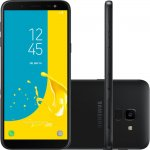 Smartphone Samsung Galaxy J6 Preto TV Digital HD 32GB Tela de 5,6