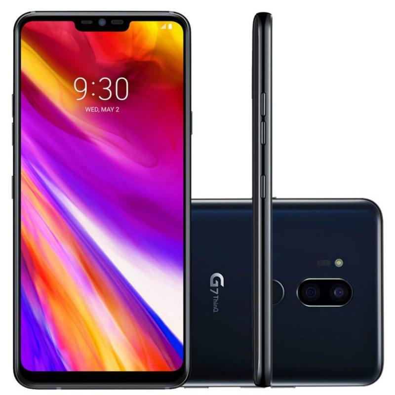 Smartphone LG G7 Thinq Preto Tela 6,1 Dual Chip 64GB Câmera Dupla 16MP e 16MP