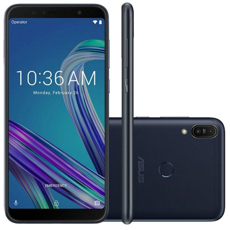 Smartphone Asus Zenfone Max Pro M1 Preto 64GB 4GB 6 Full HD Câmera Dual 16MP e 5MP Dual Chip