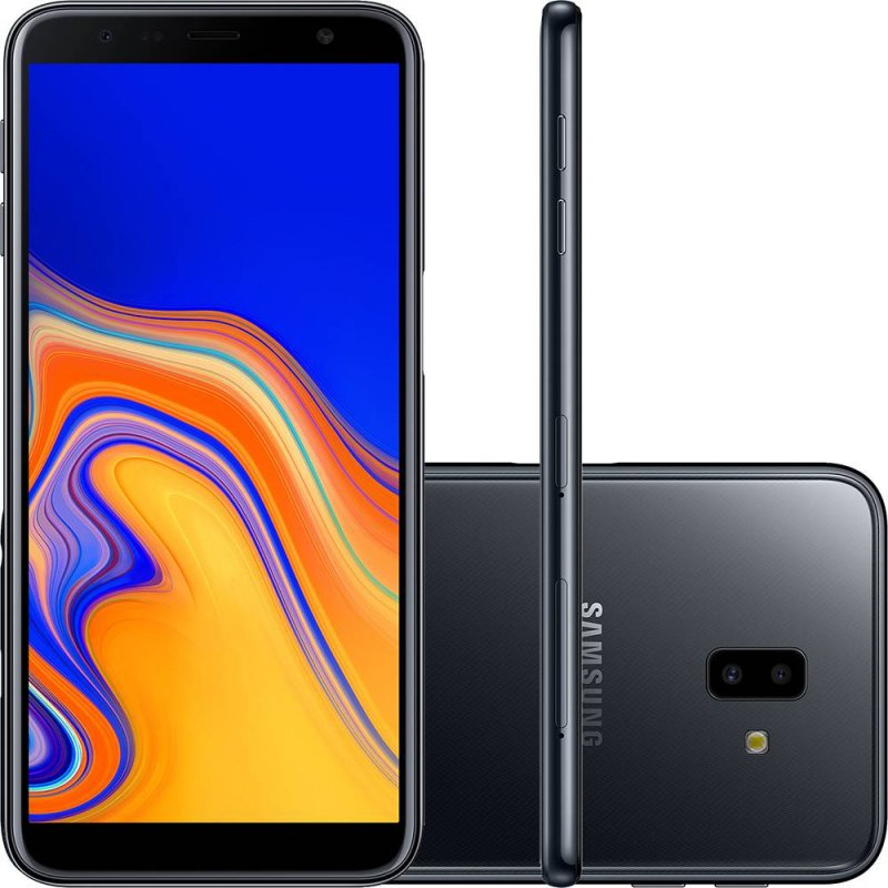 Smartphone Samsung Galaxy J6 Plus Preto 32GB 3GB RAM Tela infinita de 6 Dual Câmera 13MP 5MP