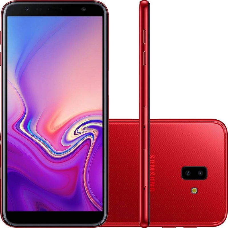 Smartphone Samsung Galaxy J6 Plus Vermelho 32GB 3GB RAM Tela