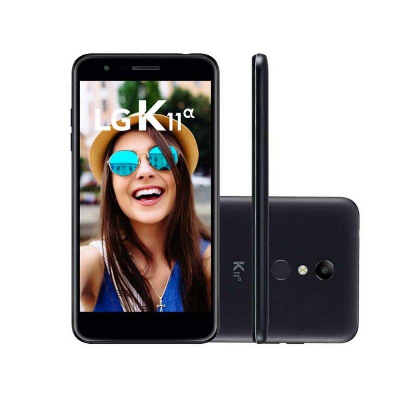 Smartphone LG K11 Alpha 32GB* Preto Câmera de 8MP com Autofoco Rápido
