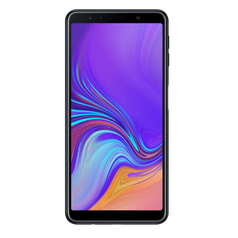 Smartphone Samsung Galaxy A7 64GB 4GB RAM Tela infinita de 6 Câmera Traseira Tripla Dual Chip Preto