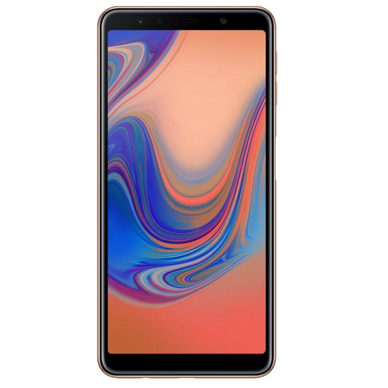 Smartphone Samsung Galaxy A7 64GB 4GB RAM Tela infinita de 6 ´ Câmera Traseira Tripla 24MP Cobre Telefonia Cobre Super AMOLED