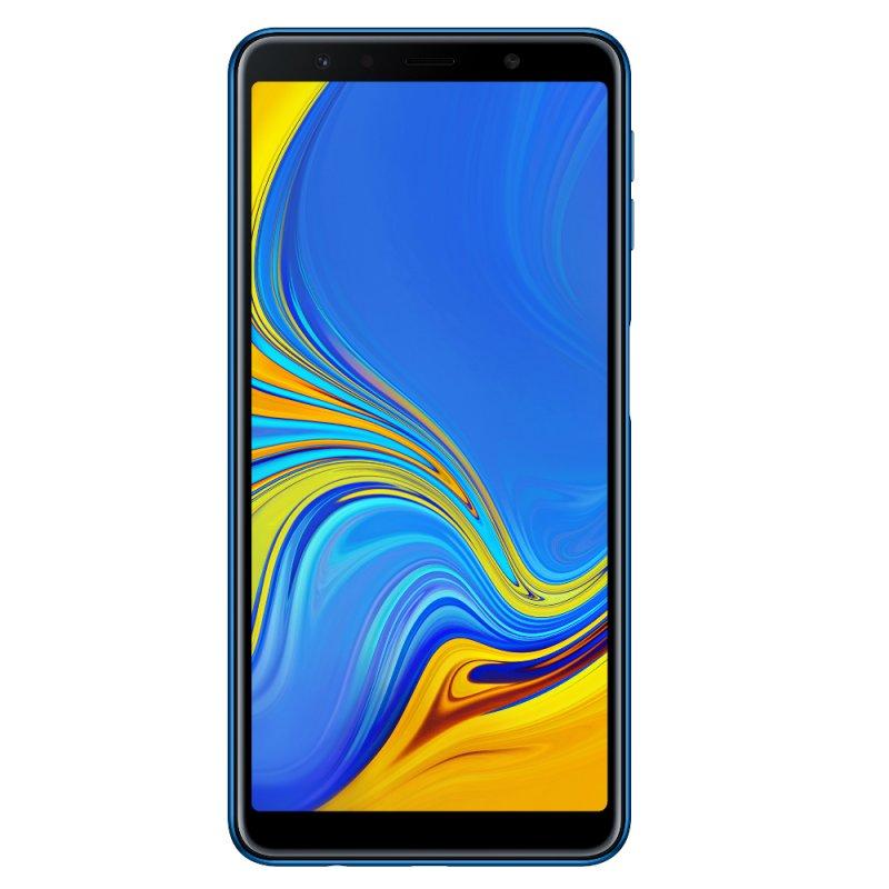 Smartphone Samsung Galaxy A7 64GB 4GB RAM Tela infinita de 6 ´ Câmera Traseira Tripla 24MP Azul Telefonia Azul Super AMOLED