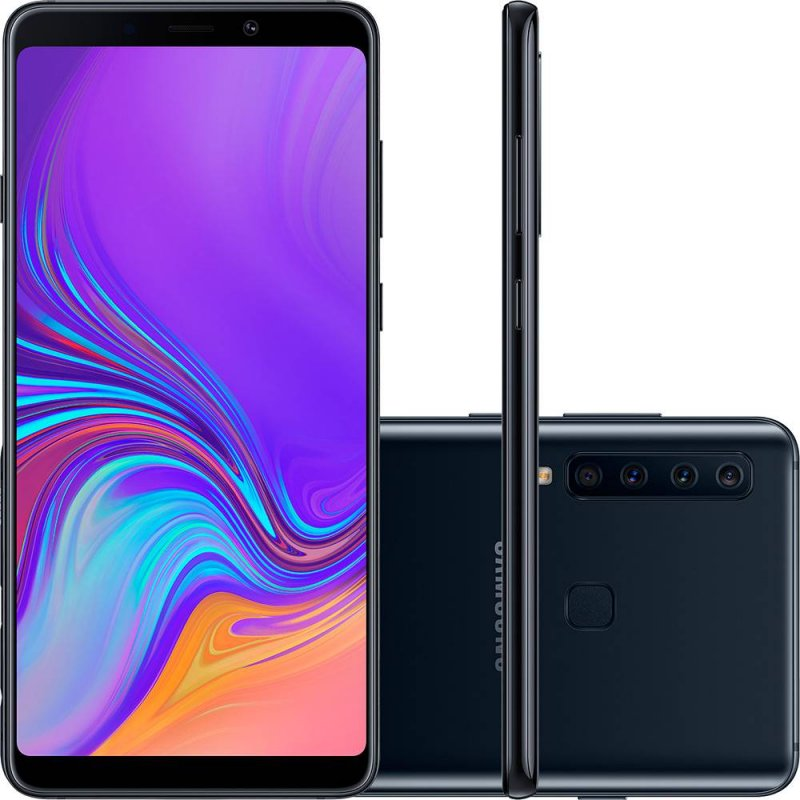Smartphone Samsung Galaxy A9 128GB 6.3 6GB RAM Quad Câmera Traseira 24MP 5MP 10MP 8MP Preto