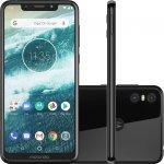Smartphone Motorola One Preto 64GB 4GB RAM Tela de 5.9