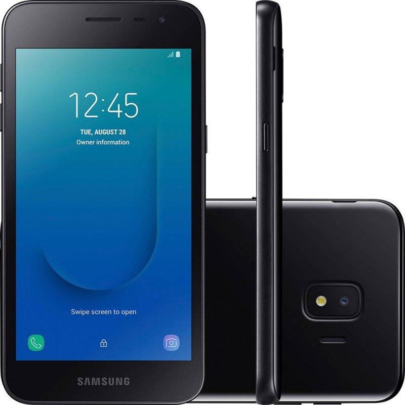 Smartphone Samsung Galaxy J2 Core 16GB Tela de 5 Câmera Traseira 8MP Dual Chip Preto