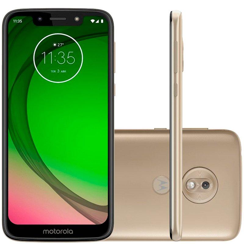 Smartphone Moto G7 Play 32GB 2GB RAM Octa-Core Tela de 5.7 Câmera Traseira 13MP Ouro
