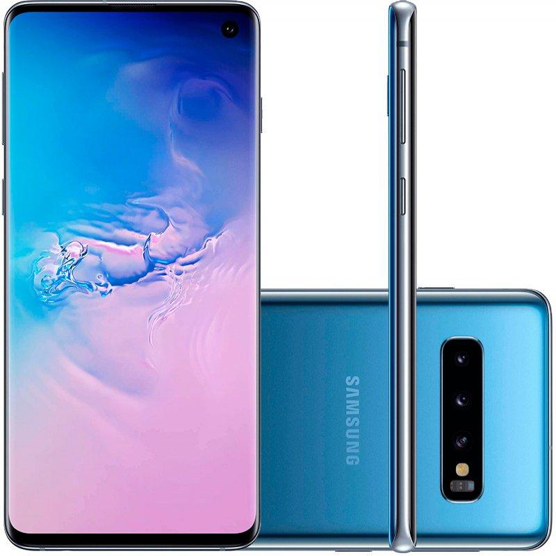 Smartphone Samsung Galaxy S10 Tela 6,1 128GB Dual Chip OctaCore Câmera Traseira Tripla Azul