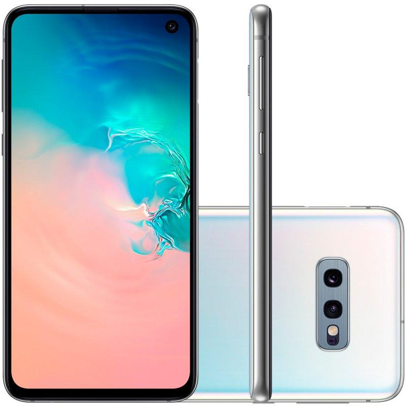 Smartphone Samsung Galaxy S10E Tela 5,8 128GB Dual Chip OctaCore Câmera Traseira Dupla Branco