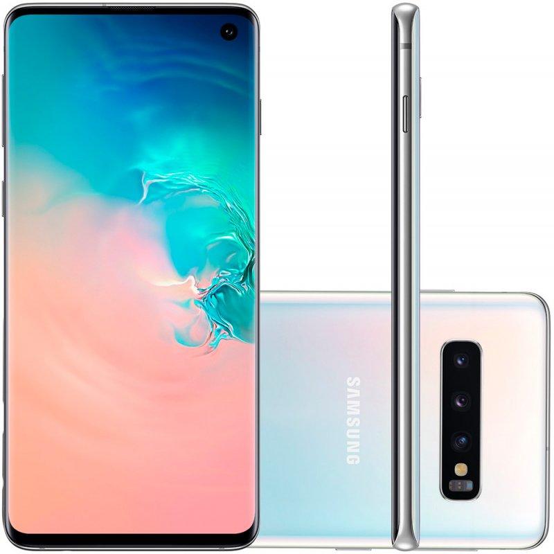Smartphone Samsung Galaxy S10 Tela 6,1 128GB Dual Chip Octa Core Câmera Traseira Tripla Branco