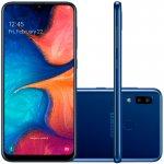 Smartphone Samsung Galaxy A20 32GB 6,4 3GB RAM Camera Traseira Dupla 13MP 5MP Azul