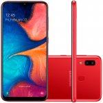 Smartphone Samsung Galaxy A20 32GB 6.4 3GB RAM Câmera Traseira Dupla 13MP 5MP Vermelho
