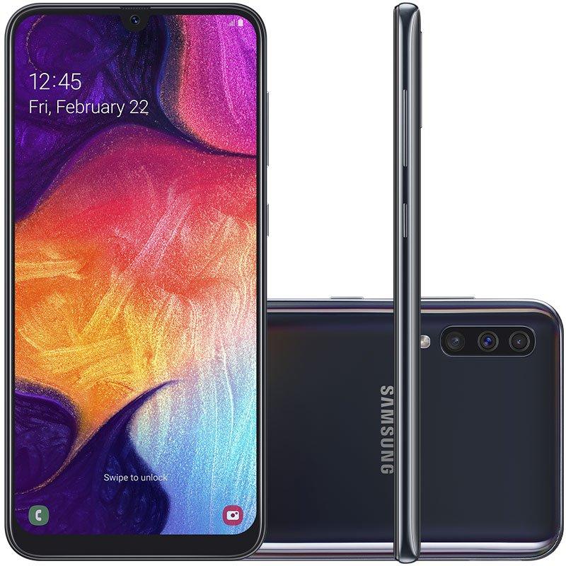 Smartphone Samsung Galaxy A50 64GB 6.4 4GB RAM Câmera Traseira Tripla 25MP 5MP 8MP Preto