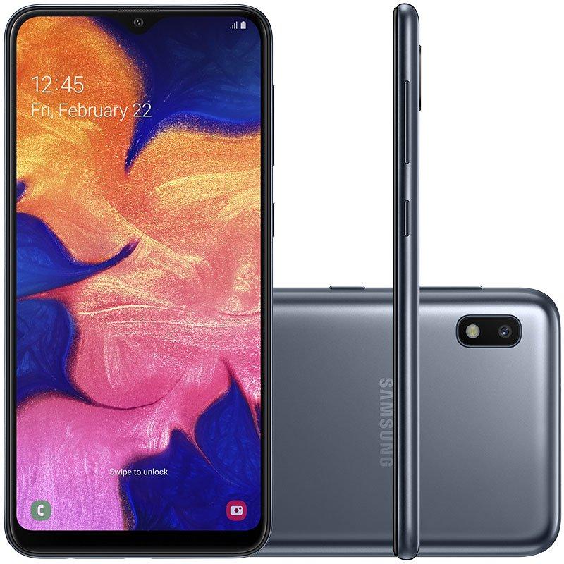 Smartphone Samsung Galaxy A10 32GB 6.2  2GB de RAM Câmera Traseira 13MP Preto
