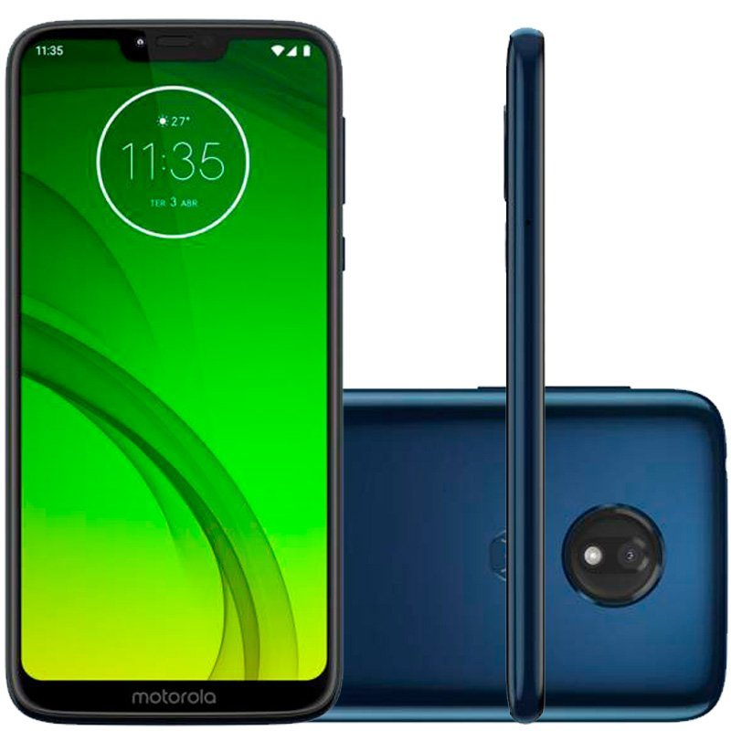 Smartphone Moto G7 Power TV 64GB 4GB RAM 6.2 12MP Bateria 5000mAh Azul Navy
