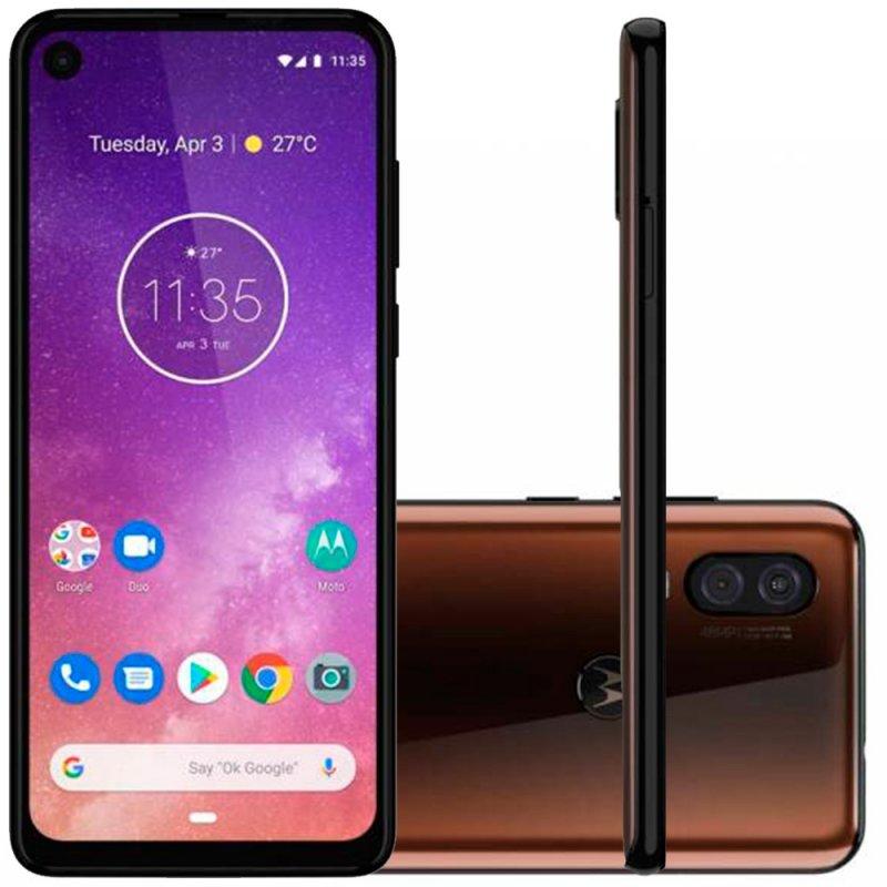 Smartphone Motorola One Vision 128GB 4GB RAM 6.3 Full HD Plus Câmera Traseira Dupla 48MP e 5MP