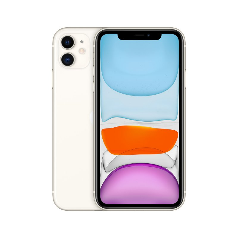 iPhone 11 Apple 64GB 4G Branco 2020 tela 6,1 Câmera dupla 12MP 12 MP iOs