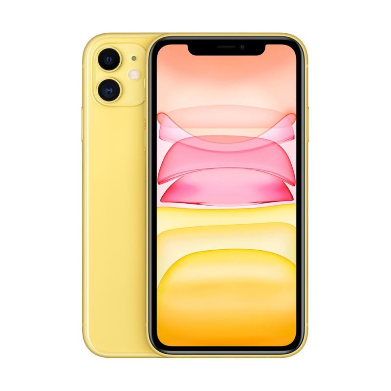 iPhone 11 Apple Amarelo 64GB Tela Liquid Retina HD 6.1 Câmera Dupla 12MP
