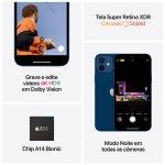 iPhone 12 Apple 128GB Azul Tela Oled 6,1 5G Câmera dupla 12MP iOS
