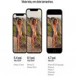 iPhone 12 Mini Apple 256GB Preto Tela Oled 5,4 5G Câmera dupla 12MP iOS
